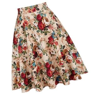 Dresses & Skirts - Pin Up HP Floral Flared Swing Skirt